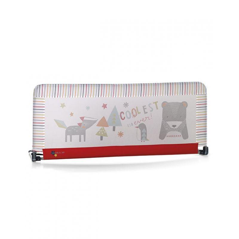 Barrera de cama abatible 130 Rojo de Jané