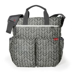 Duo Signature Grey Feather de Skip Hop Bolso para carrito
