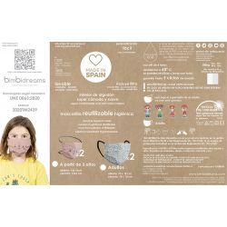 Mascarillas reutilizables niños /niñas 3 a 6 años (Pack 2 und)