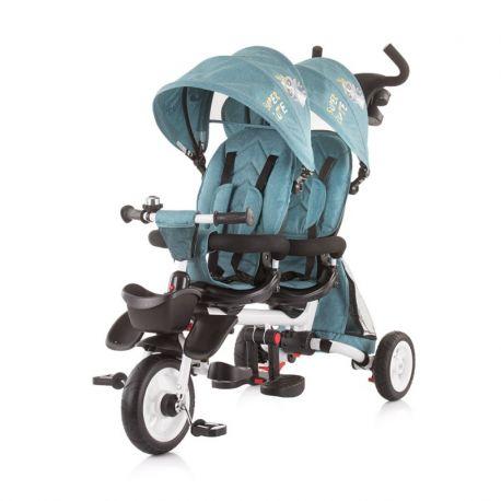 Triciclo gemelar 2 Fun Gris de Chipolino