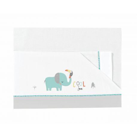 Juego de Sábanas Franela de Bimbidreams Colección Cool Zoo