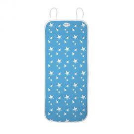 Colchoneta reversible Estrellas y nubes Celeste para silla de paseo de Baby Star